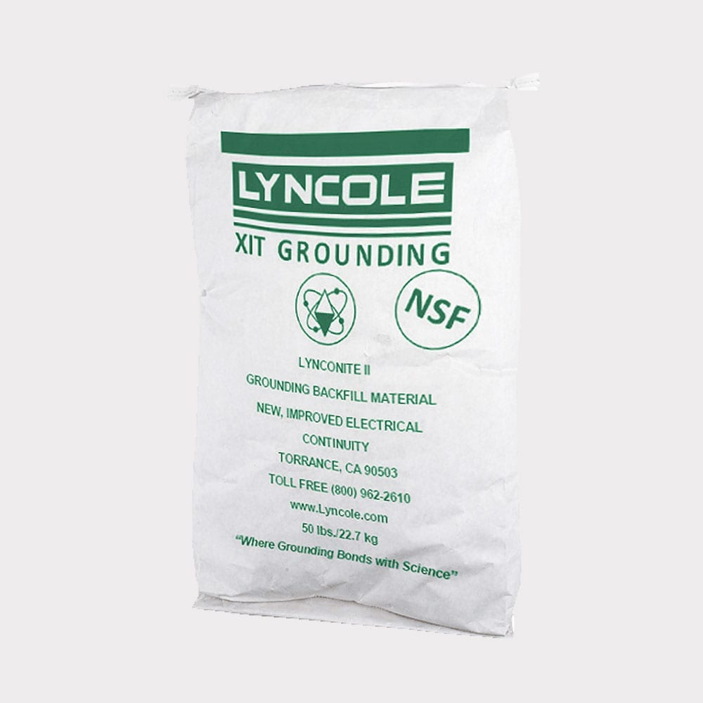 A photo of Lynconite II® Backfill that is used for grounding solutions.