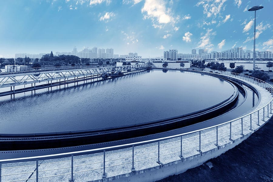 A photo of a water treatment plant.