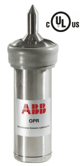A photo of ABB's newest OPR advance lightning air terminal
